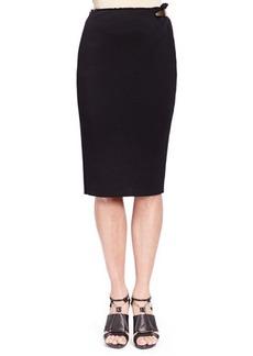 Lanvin Side Metal-Detail Jersey Skirt