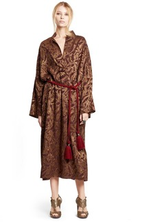 Lanvin Silk Blend Lamé Dress