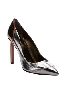 Lanvin silver and bronze calfskin 'Lami' pumps