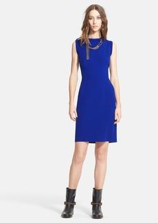Lanvin Sleeveless Stretch Jersey Sheath Dress