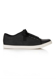 Lanvin Snake-effect leather trainers