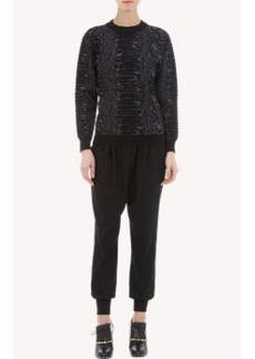Lanvin Snake-Pattern Jacquard Sweater