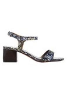Lanvin Snake-Stamped Ankle-Strap Sandals