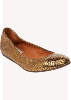 Lanvin Snake-Stamped Ballet Flats