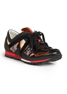 Lanvin Snakeskin & Leather Sneakers