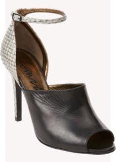 Lanvin Snakeskin Peep-Toe Sandals
