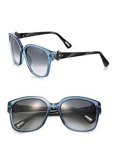 Lanvin Square Clear Jeweled Sunglasses