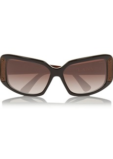 Lanvin Square-frame metal and acetate sunglasses