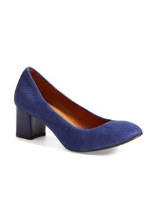 Lanvin Square Heel Round Toe Pump (Women)