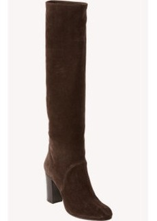 Lanvin Stacked-Heel Knee Boots