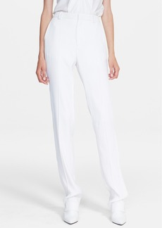 Lanvin Straight Leg Techno Crepe Pants