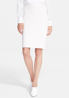 Lanvin Stretch Cotton Piqué Pencil Skirt