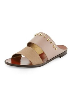 Lanvin Studded Double-Band Sandal, Beige