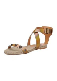 Lanvin Studded Iridescent Espadrille Sandal