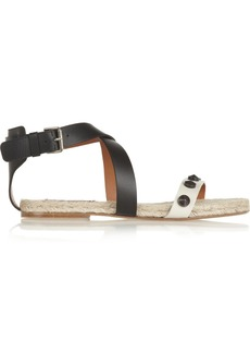 Lanvin Studded leather espadrille sandals