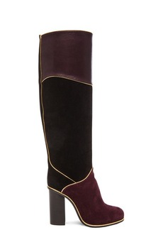 Lanvin Suede Calfskin Piping Boots