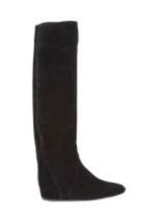 Lanvin Suede Hidden-Wedge Knee Boots