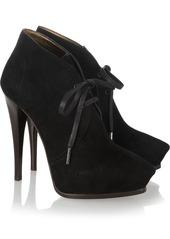 Lanvin Suede lace-up ankle boots