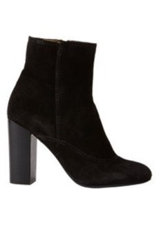 Lanvin Suede Stacked-Heel Ankle Boots