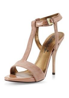 Lanvin Suede T-Strap Sandal
