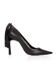 Lanvin Tassel-back leather pumps