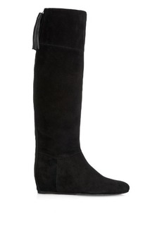 Lanvin Tassel-detail suede boots