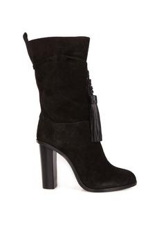 Lanvin Tassel-tie slouchy suede boots