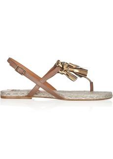 Lanvin Tasseled leather espadrille sandals