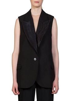 Lanvin Textured Mixed-Media Vest