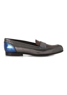 Lanvin Tri-colour leather loafers