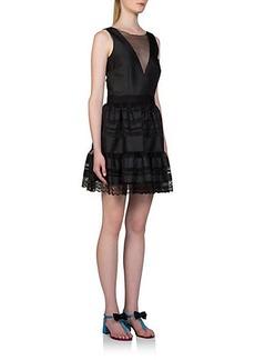 Lanvin Tulle & Lace Cocktail Dress
