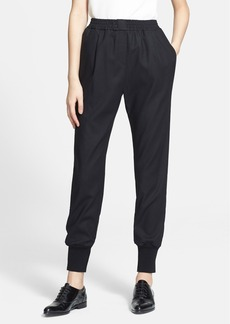Lanvin Tuxedo Stripe Stretch Gabardine Jogging Pants