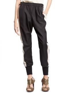 Lanvin Tuxedo Stripe Wool Jogging Pants