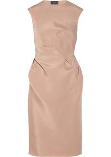 Lanvin Twist-effect faille dress