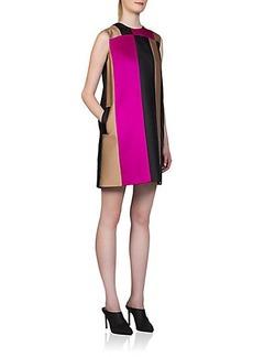 Lanvin Vertical Stripe Silk Dress
