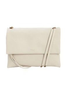 Lanvin white calfskin petite shoulder bag