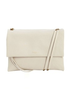 Lanvin white calfskin petite shoulder bag