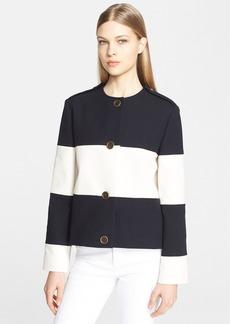 Lanvin Wide Stripe Cotton Piqué Jacket