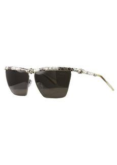 Lanvin Women's Grey Snakeskin Leather Sunglasses