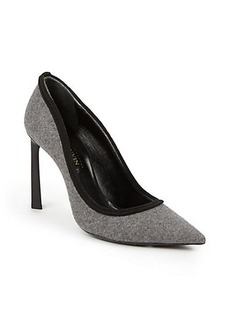Lanvin Wool Point-Toe Pumps