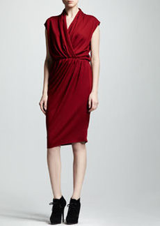 Lanvin Wrap-Front Jersey Dress
