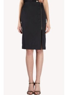 Lanvin Zip-Slit Pencil Skirt