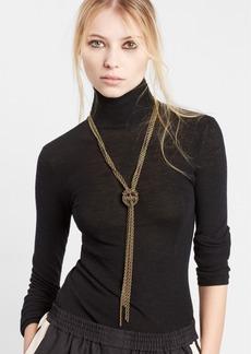 LanvinLoose Knot Brass Necklace