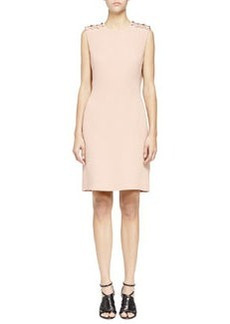 Pearly Pierced Washed Cady Sheath Dress, Nude   Pearly Pierced Washed Cady Sheath Dress, Nude