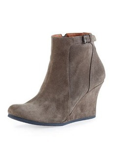 Suede Wedge Ankle Boot, Gray   Suede Wedge Ankle Boot, Gray