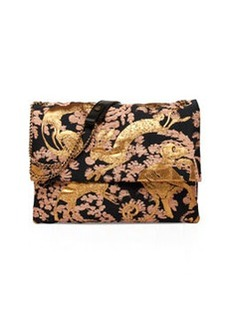 Sugar Monkey Jacquard Medium Shoulder Bag, Black/Gold   Sugar Monkey Jacquard Medium Shoulder Bag, Black/Gold