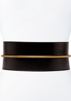 Tube-Detail Belt in Black Lambskin   Tube-Detail Belt in Black Lambskin