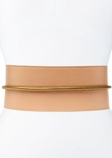 Tube-Detail Belt in Nude Lambskin   Tube-Detail Belt in Nude Lambskin