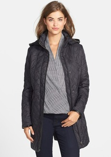 Larry Levine Hooded Quilted Coat