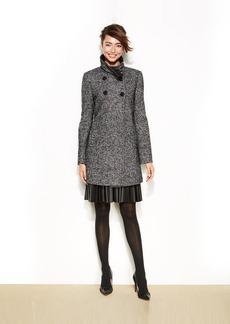 Larry Levine Petite Tweed Double-Breasted Coat